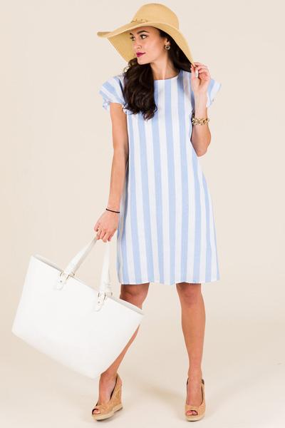 Sweetest Stripes Dress, Blue