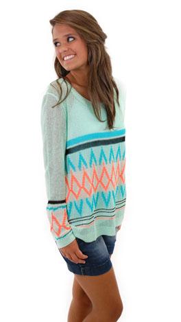 Fire Water Sweater, Mint