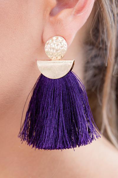Weekend Vibes Earring, Purple