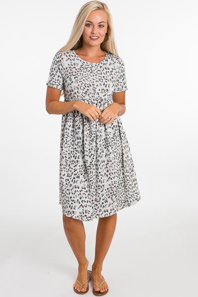 Terry Leopard Dress