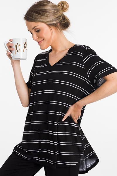 Dani T-Shirt, Black Stripe
