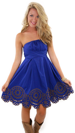 Mother Nature Dress, Blue