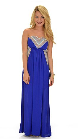 Tangled Up in Blue Maxi