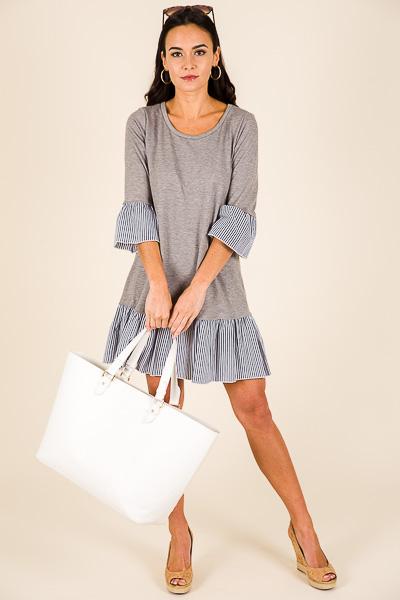 Clara Dress, Grey