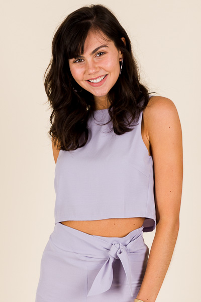 Crop Top, Lilac Grey