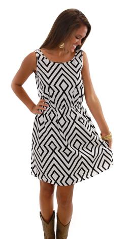 Linen Geo Dress