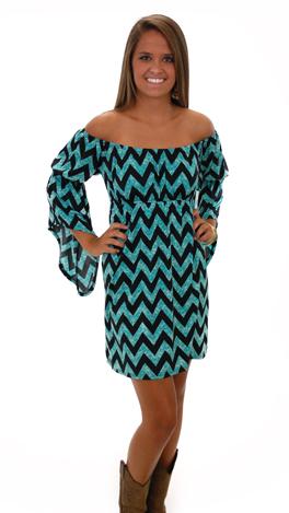 Shoulder Shimmy Dress, Blue