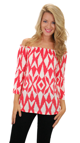Day Dreamer Top, Coral / Red