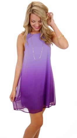 Ombre Tank Dress, Purple