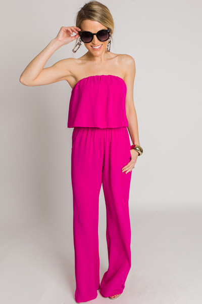 Jump on It Jumpsuit, Fuchsia