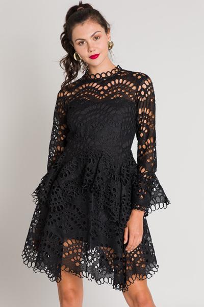 Oval Eyelet Dress