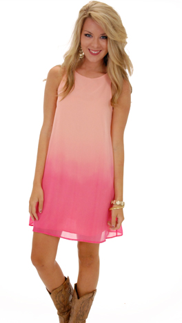 Ombre Tank Dress, Peach