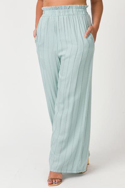 Super Smooth Stripe Pant, Mint