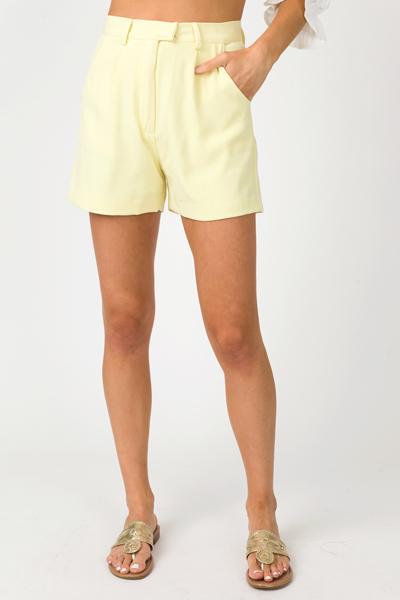 Pocket Of Sunshine Shorts, Yellow