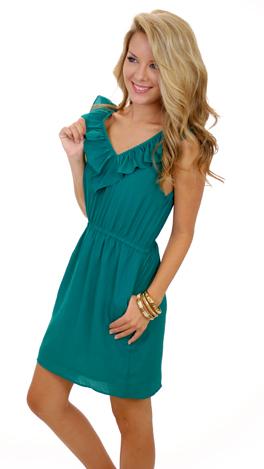 Ruffle My Truffle Dress, Green