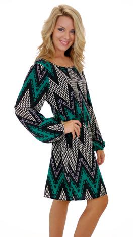 Arrowheads Dress, Green