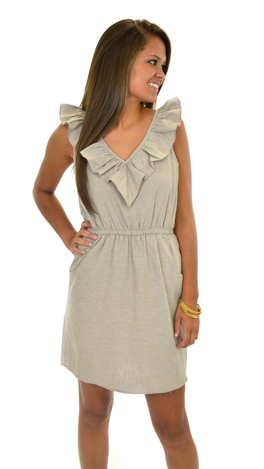 Ruffle My Truffle Dress, Linen