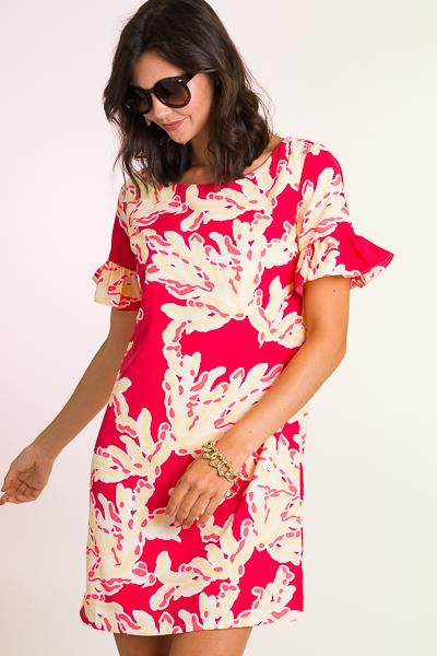 Betsy Dress, Coral