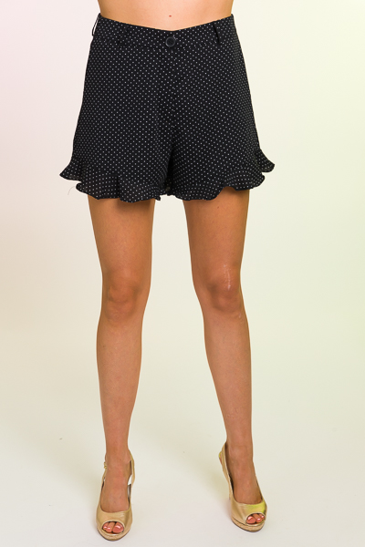 Dotted Sweep Shorts, Black