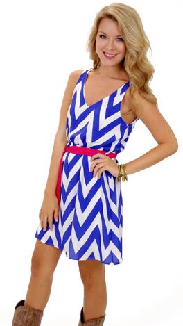 Tied Up Dress, Blue