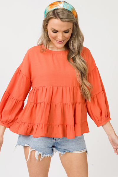 Tricia Tier Top, Orange