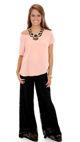 Lace Pants, Black