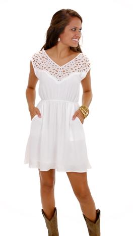 Cut That Out Dress, White