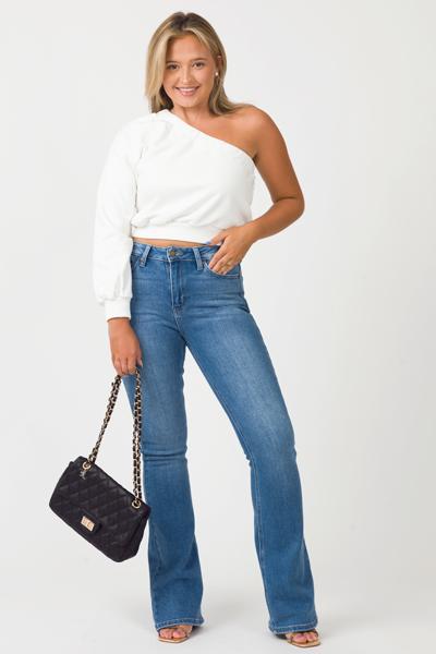 High Rise Flare Jeans, Medium