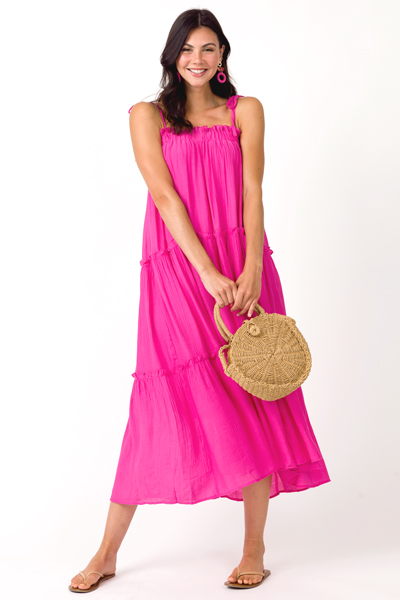 Go With The Flow Maxi, Hot Pink
