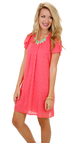 Rise Up Dress, Coral