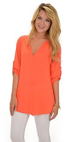 Cooper Tunic, Solid Orange