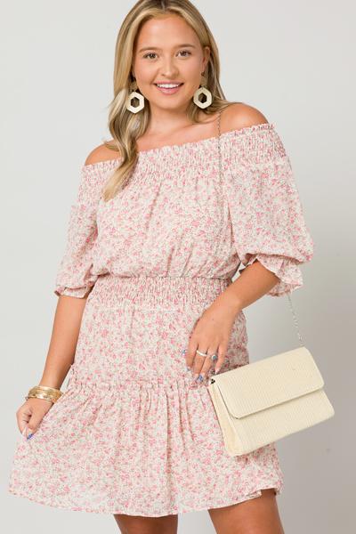 Tea Party Rosie Dress, Natural