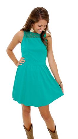 Zip-a-dee-do Dress, Green