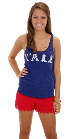 Judith March Y'all Tank, Navy