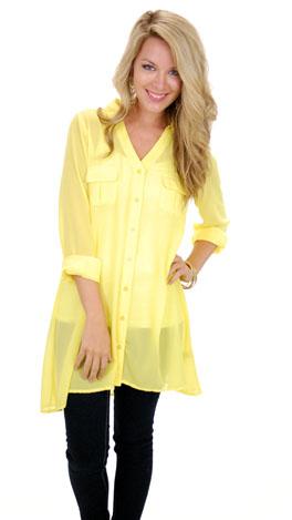Jet Setter Tunic, Yellow
