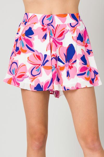 Adrey Shorts, Pink Floral