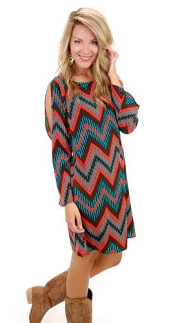 Jumping Fences Dress, Brown