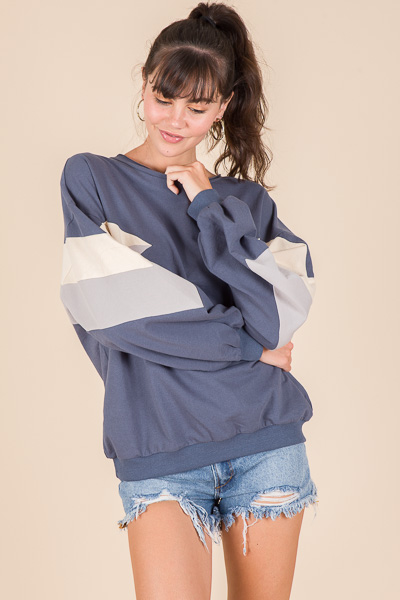 Retro Colorblock Sweatshirt