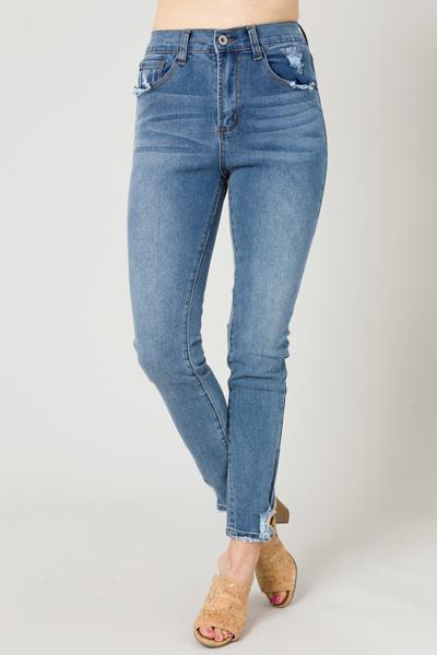 Selena Distressed Skinny Jeans