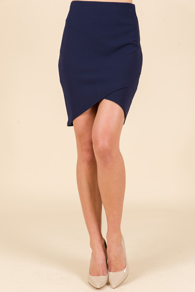 Kara Envelope Skirt, Navy