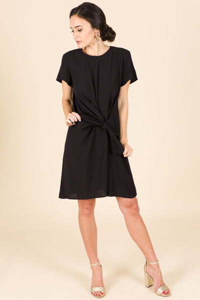 Knotted Black Dress