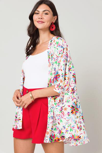 Kaleidoscope Floral Kimono