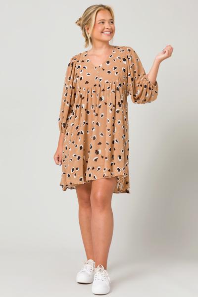 Modern Lady Babydoll Dress, Taupe