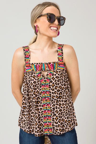 Wild Woman Embroidery Tank