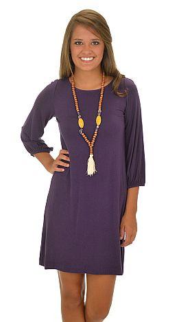 Basic Boatneck Tunic, Purple