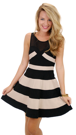 Stop and Stare Dress, Black