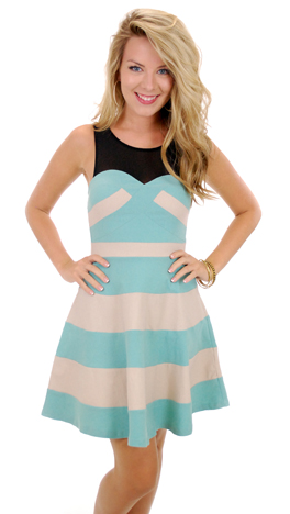 Stop and Stare Dress, Blue