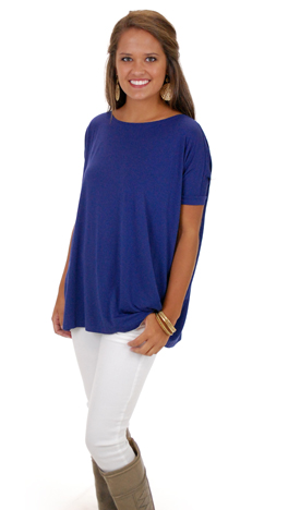 Outside the Box SS Top, Navy