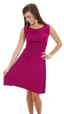 Good Call Dress, Magenta