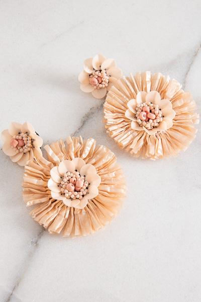 Straw Flower Earring